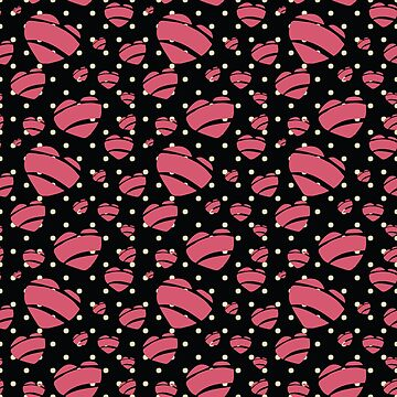 Rock a Billy Hearts in Pink with Polka Dots - by Jezli Pacheco by BummerGifts