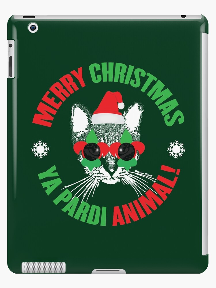 Merry Christmas Ya Pardi Animal New Orleans Cat by StudioBlack