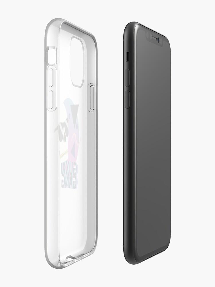 Coque iPhone «Esthétique du crâne Vaporwave GUXXI GANG», par Capricorvid