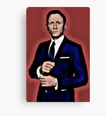 Lienzo Illustation del arte pop por Daniel Craig