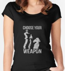 Choose Your Weapon Chess Women's Fitted Scoop T-Shirt