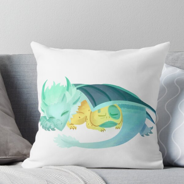 The Dragon Prince Bait and Zym Throw Pillow