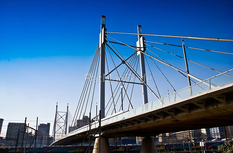"""Nelson Mandela Bridge — Suspension Bridge & Walkway"" by ..."