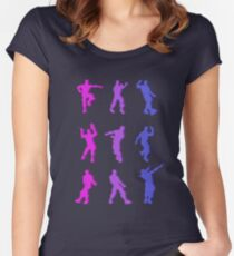 Fortnite Emote Dances Women's Fitted Scoop T-Shirt