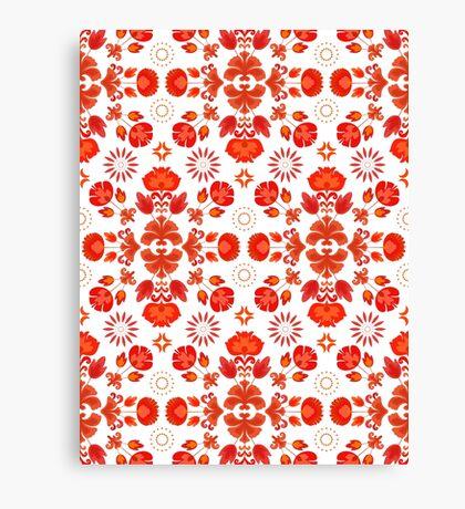 Fiesta Folk Red #redbubble #folk Canvas Print