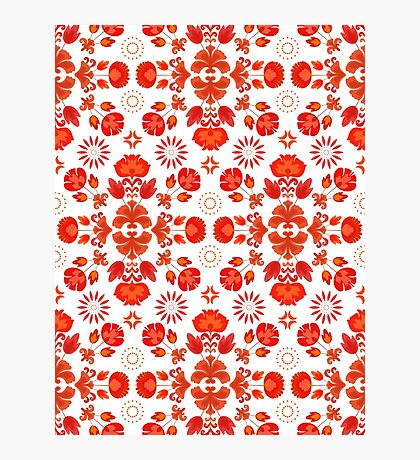 Fiesta Folk Red #redbubble #folk Photographic Print