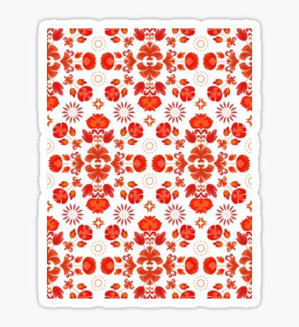 Fiesta Folk Red #redbubble #folk Glossy Sticker