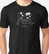 Camiseta ajustada Placa lunar de Apolo 11
