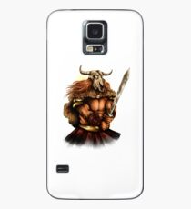Viking With A Sword Skull Horns T-Shirt Case/Skin for Samsung Galaxy