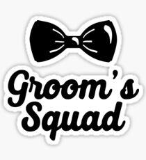 Groom's Squad Sticker