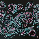 Abstract butterflies, shells and petals by MagsArt
