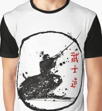 Samurai Fighting Graphic T-Shirt
