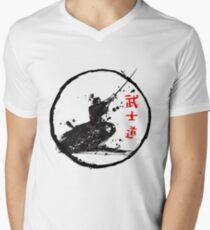 Samurai kämpfen T-Shirt mit V-Ausschnitt
