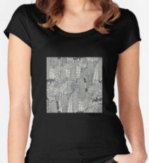 Big City Love Tailliertes Rundhals-Shirt