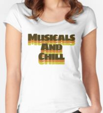 Vintage Musicals and Chill Fitted Scoop T-Shirt