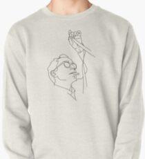 Jean-Luc Godard Minimalzeichnung Sweatshirt
