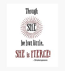 Though She Be But Little Wall Art Redbubble