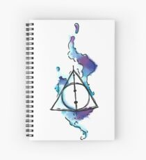 Deathly triangle Spiral Notebook