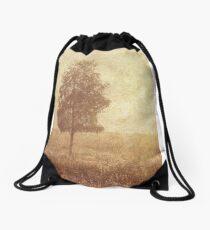 Lonely Tree. Trossachs National Park. Scotland Drawstring Bag