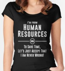 Human Resources HR Legends Women's Fitted Scoop T-Shirt