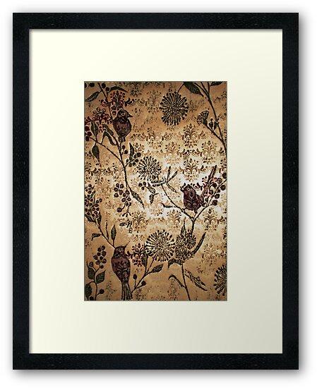 "Golden Morning - Woodcut Chine Colle by Belinda ""BillyLee"" NYE (Printmaker)"