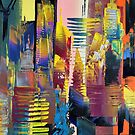 New York Cityscape Abstract 632 by Eraclis Aristidou