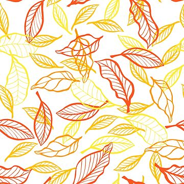 Leaves design orange by Argunika