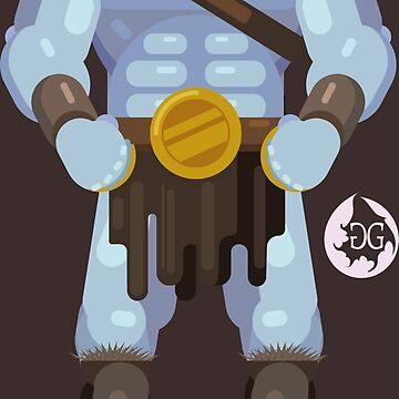 Grog Strongjaw Flat Design Illustration by georgiagoddard