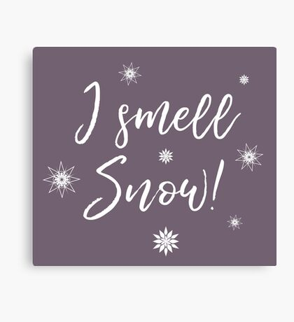 I smell Snow Canvas Print