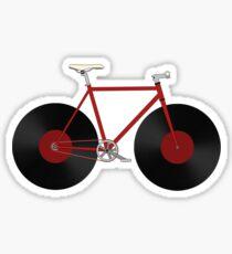 Record Fixie Sticker
