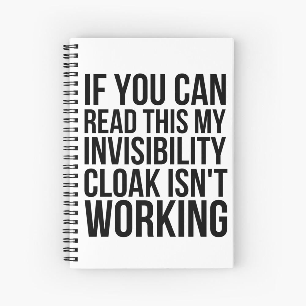 Can you read this? Spiral Notebook