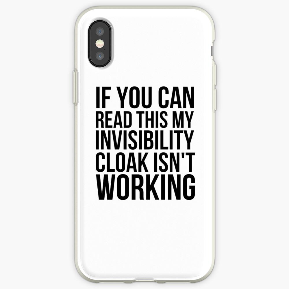 Can you read this? iPhone Case & Cover