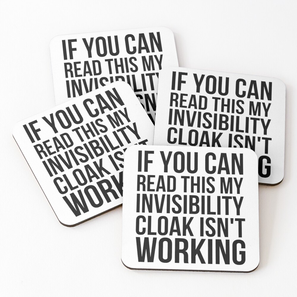 Can you read this? Coasters (Set of 4)