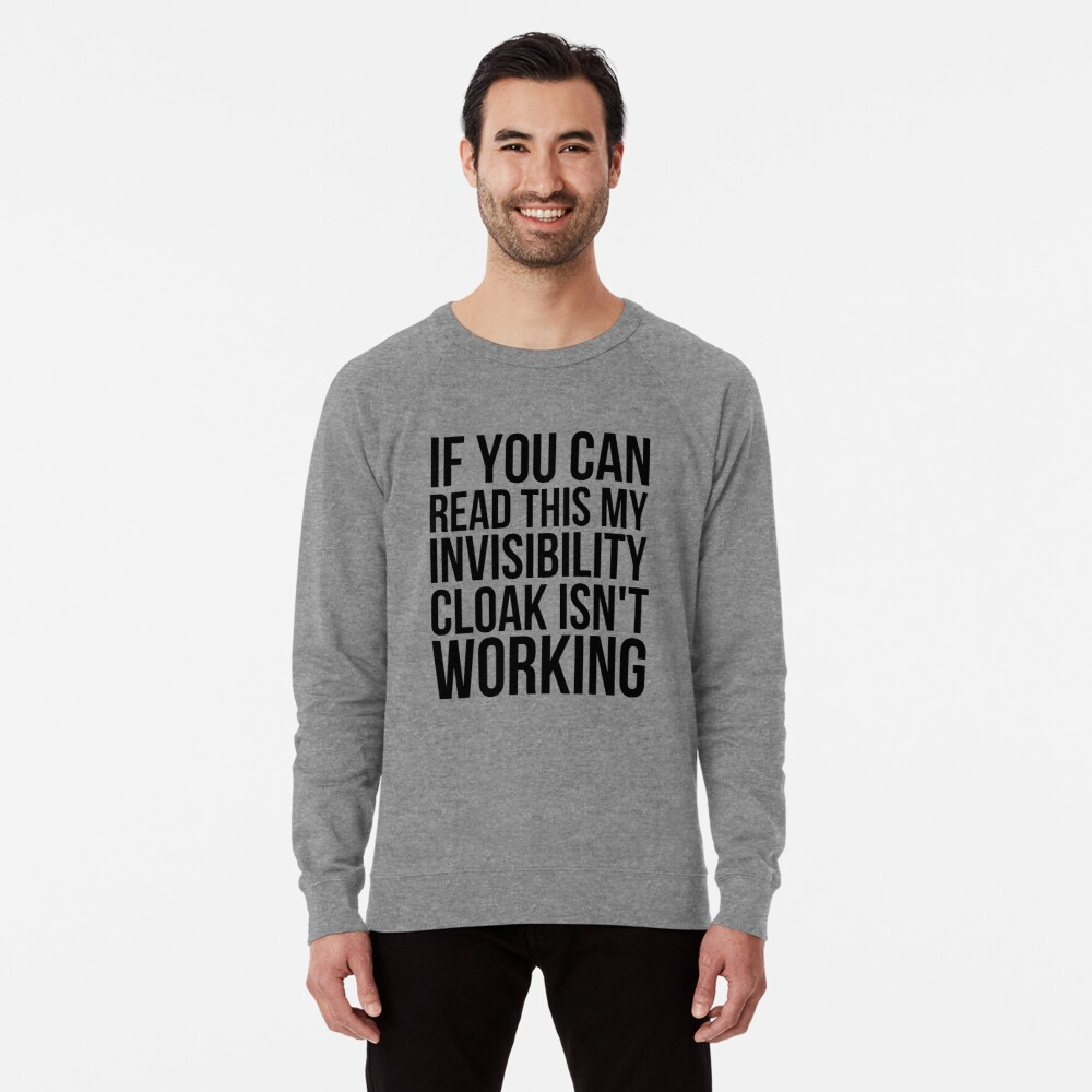 Can you read this? Lightweight Sweatshirt