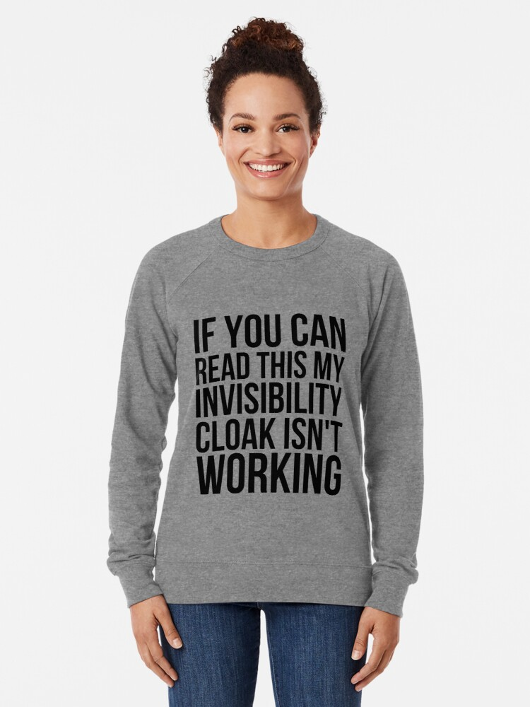 Alternate view of Can you read this? Lightweight Sweatshirt