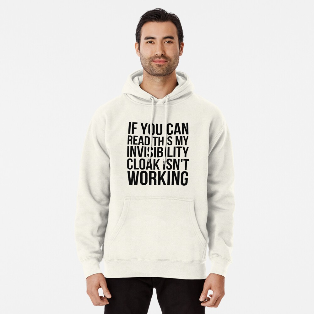 Can you read this? Pullover Hoodie