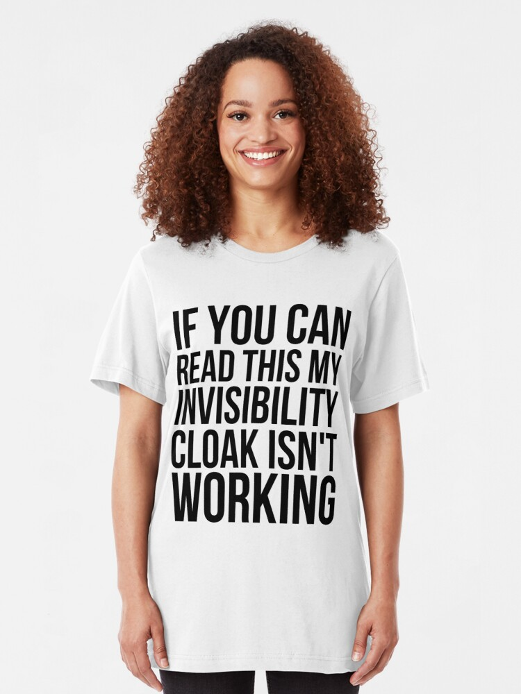 Alternate view of Can you read this? Slim Fit T-Shirt