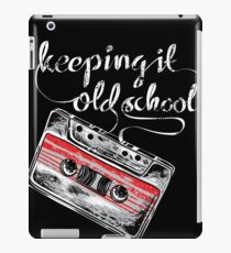 Keeping it old school boombox tape 80s music shirt iPad Case/Skin