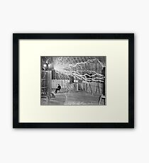 Tesla and His Coils Framed Print