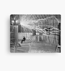 Tesla and His Coils Canvas Print