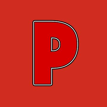 Pride! Letters - P (Red) by technoqueer