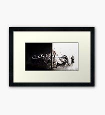 The Battle Of Dark And Light Framed Print