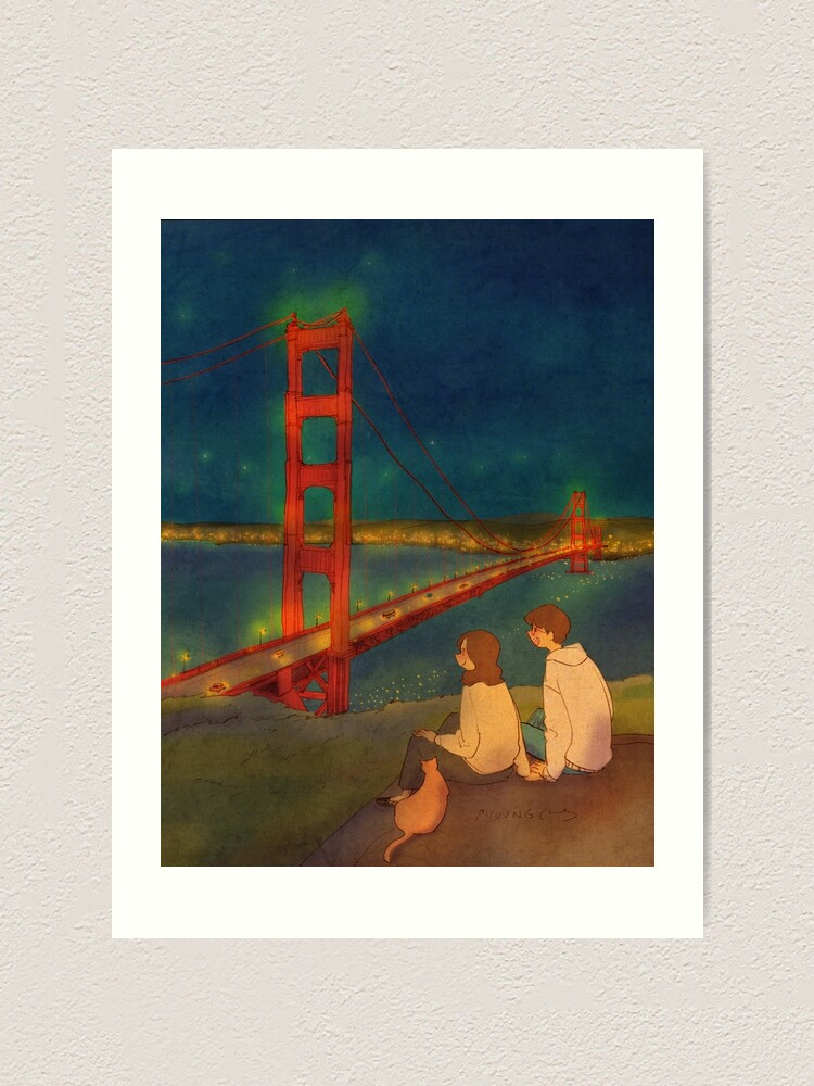 Alternate view of Golden Gate Bridge, San Francisco, California, USA Art Print