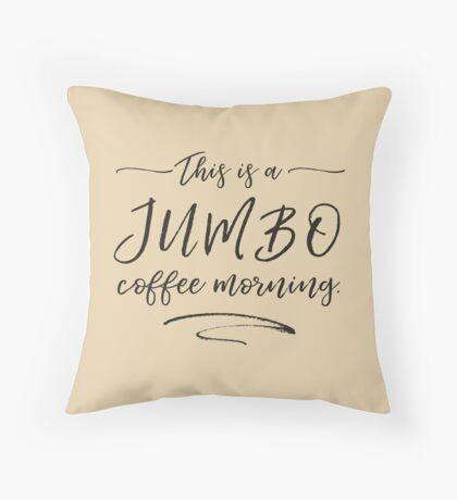JUMBO coffee Throw Pillow