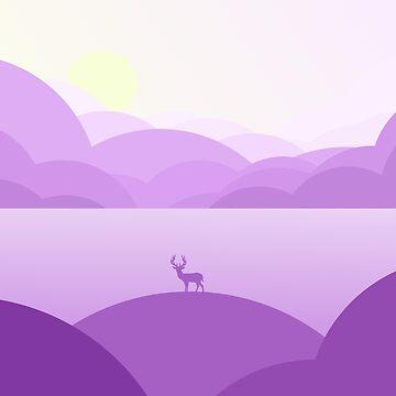 Purple Stag Bubble Hills by NeonArcade87