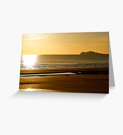 A walk along Portmarnock beach Greeting Card