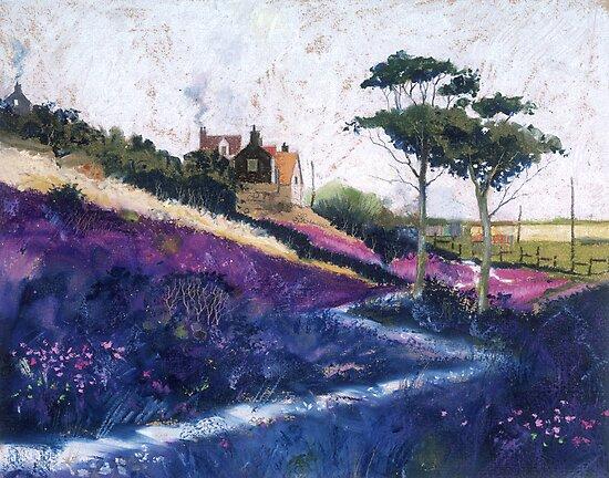 Purple Fields by Graham Clark