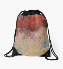 Abstract - Rust  Drawstring Bag