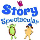 Story Spectacular Kid's Podcast Logo in Blue by Storytacular by Storytacular