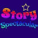 Story Spectacular Children's Podcast Logo in Rainbow by Storytacular by Storytacular